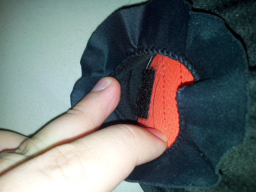 4. attaching velcro to plastic with glue